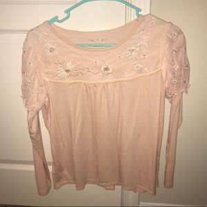 Light pink long sleeve